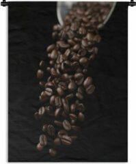 1001Tapestries Wandkleed Espresso - Koffiebonen voor een espresso Wandkleed katoen 90x120 cm - Wandtapijt met foto