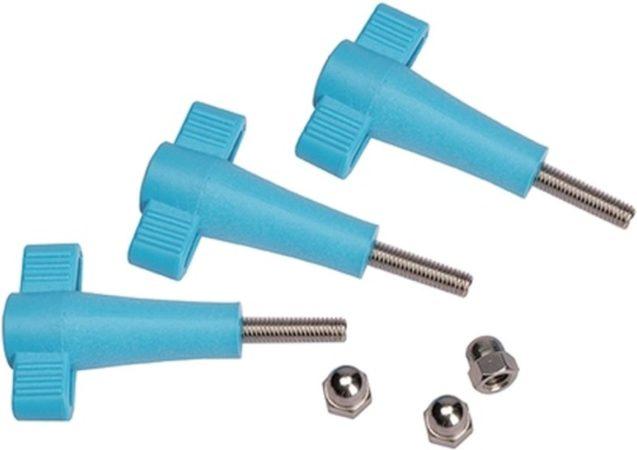 Afbeelding van Zwarte UKPro Knob & Nut Kit voor mounts en accessoires