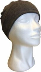 Donkergrijze Softies Chemo muts - Beanie - Donker grijs