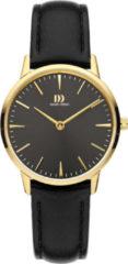 Gouden Danish Design watches edelstalen dameshorloge Akilia Black Gold Medium IV11Q1251