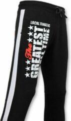Local Fanatic Exclusieve Sweatpants Mannen - Muhammad Ali Trainingsbroek - Zwart - Maten: XXL