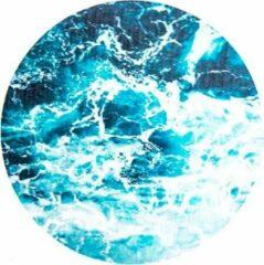 Moodadventures | Muismatten | Muismat Waves Rond | Turquoise | 20x20 cm.