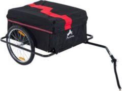 HOMCOM Transportanhänger für Fahrräder Fahrradanhänger Lastenanhänger Fahrrad Anhänger Transportwagen Handwagen