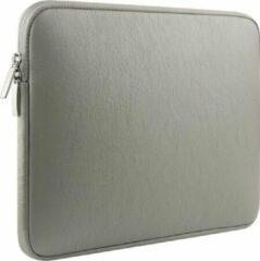 """Tech Supplies   Luxe Vegan Leer Kunstlederen Soft Sleeve Voor de Apple Macbook Air / Pro (Retina) 13 Inch - 13.3"""" Case - Bescherming Cover Hoes Kunstleer - Licht Grijs"""
