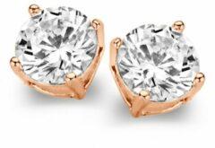 Goudkleurige Casa Jewelry Oorknoppen Marry L van zilver rosé verguld