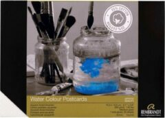 Witte Rembrandt Aquarelverf Postkaart 10,5 x 14,8 cm, 300 g, 30 vellen, Mix