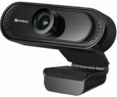 Sandberg USB 1080P Saver webcam 2 MP 1920 x 1080 Pixels Zwart
