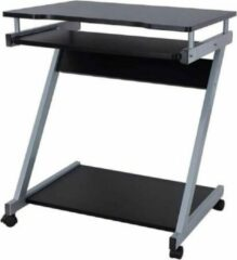 Zwarte Maison Woonstore Maison's Bureau – Bureautafel – Laptoptafel – Op wielen – Uitschuifbaar tafelblad – 60x48x73