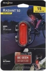 Zwarte NITE IZE Radiant 50 Bike Light - Red