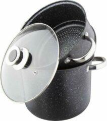 Zwarte Amberg Couscouspan - Couscoussier 8 Liter roestvrij staal