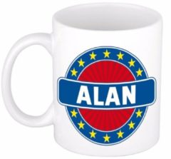 Shoppartners Namen mok / beker - Alan - 300 ml keramiek - cadeaubekers