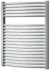 Douche Concurrent Designradiator Plieger Onda 76,4x58.5cm 528 Watt Grijs Zijaansluiting