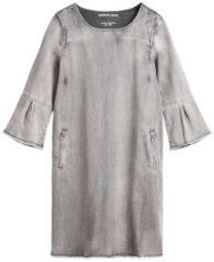 Weiches Denim-Kleid mit Trompetenärmeln sandwich Grey denim