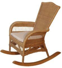 Möbel direkt online Moebel direkt online Schaukelstuhl Rattan-Schaukelstuhl handgeflochten Farbe: beige