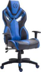CLP Racing-Bürostuhl FANGIO mit hochwertiger Polsterung und Kunstlederbezug I Höhenverstellbarer Drehstuhl mit Laufrollen I In verschiedenen Farben er