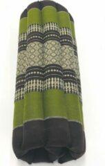 VDD Thai thoughts Meditatie yoga matje kussen GROOT origineel rolmatrasje thais design 70 cm x 70 cm groen