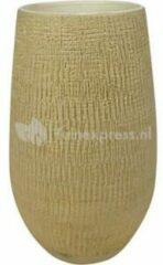 Gouden Ter Steege Hoge pot Ryan shiny sand bloempot binnen 18 cm