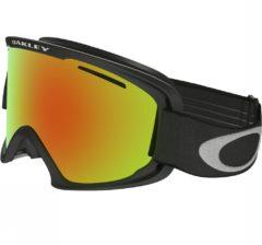 Zwarte Oakley O Frame 2.0 XL Skibril - Fire Iridium - Mat Zwart
