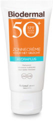 Biodermal Zonnebrand - Zonnebrandcreme gezicht -Hydraplus Face SPF50 - 50ml