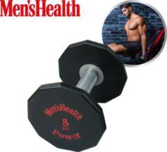 Rode Men's Health Urethane Dumbbell 5 kg- Crossfit - Oefeningen - Fitness gemakkelijk thuis - Fitnessaccessoire