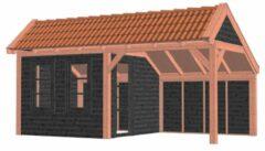 Van Kooten Tuin en Buitenleven Kapschuur De Stee 600x360 cm - Combinatie 1