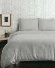Zilveren YELLOW Louise Dekbedovertrek - Litsjumeaux XL - 260x200/220 cm - Silver Grey