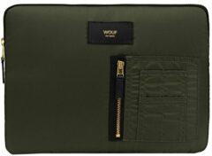 Wouf Camo Bomber iPad hoes groen Laptopsleeve