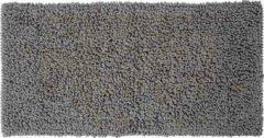 Zwarte Sealskin badmat Furry grijs microfiber 60x120