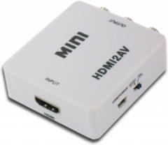 Witte Dolphix HDMI Naar Tulp AV Converter - HDMI Naar RCA Composiet Audio Video Kabel Adapter