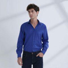 Heren Overhemd Kobalt Blauw MT 39 - Baurotti Lange Mouw Regular fit