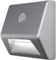 Zilveren Ledvance Armatuur op batterijen LED: voor muur, NIGHTLUX® Stair / 0,25 W, 4.5 V, Cool White, 4000 K, body materiaal: acrylonitrile butadiene styrene (abs), IP54, 1-bundel