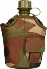Merkloos / Sans marque Veldfles PVC met camouflage hoes