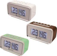 Soundmaster UR105 Retro-PLL UKW Uhrenradio, verschiedene Farben Farbe: Weiß