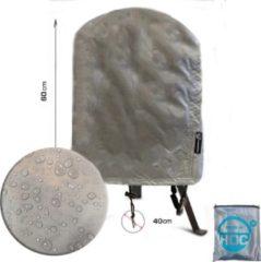 Zilveren COVER UP HOC Diamond BBQ Hoes voor Grill Guru Classic Compact - Waterdicht met Stormbanden en Trekkoord