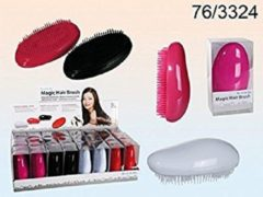 Rode Vesper borstel - Haarborstel - Zwart - Wit - Roze - Antiklit - Hairbrush - Tangle teezer