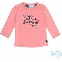 Feetje! Meisjes Shirt Lange Mouw - Maat 56 - Roze - Katoen/elasthan