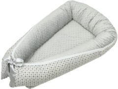 Grijze Babynest Bubaba Luxe Grey Dots