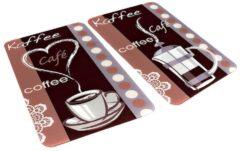 2er-Set Herdabdeckplatten 'Kaffeeduft' Wenko Kaffeeduft