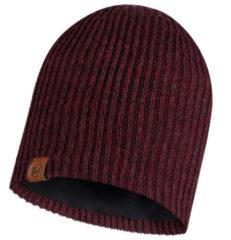 Bordeauxrode Buff Knitted & Polar Hat Lyne Maroo Bordeaux / Kastanjebruin