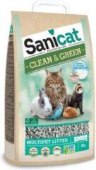 SANICAT strooisel Clean & groen Cellulose 10L - voor cat