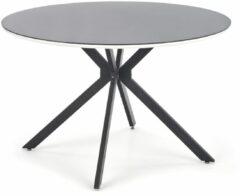 Home Style Ronde eettafel Avelar 120 cm breed in zwart met wit