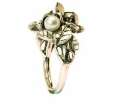 Trollbeads TAGRI-00221 Ring Hagendoorn zilver met parel Maat 54