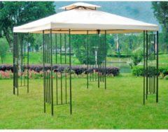 Garden Pleasure Pavillon 3x3m Stahl Gartenzelt Partyzelt Garten Zelt Überdachung