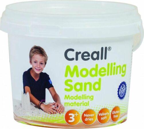 Afbeelding van Zandkleurige Creall moddeling sand 750gram in emmer