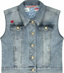 Lichtblauwe Blue Barn Jeans Denim gilet Meisjes Gilet 104