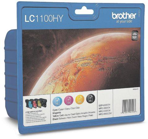 Afbeelding van Brother Cartridge multipack LC-1100HYBK, HYC, HYM, HYY Zwart, Cyaan, Magenta, Geel