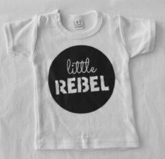 Babybugz Baby t-shirt - Little Rebel - Wit - Maat 0