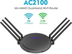 Wavlink QUANTUM D6 - AC2100 MU-MIMO Dual-band Smart Wi-Fi-router met Touchlink