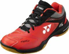 Sportschoenen badminton squash indoor sporten heren pc -65 x2 rood/zwart