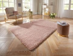 Roze Elle Decor vloerkleden Hoogpolig Vloerkleed Talence 103538 Elle Decor 140x200 cm